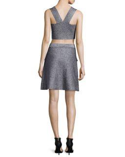 A.L.C. Ali Metallic Crop Top & Aaron A Line Skirt