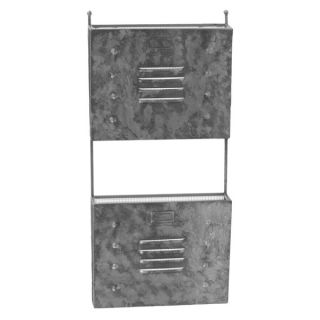 Galvanized Zinc Metal Wall Mail Organizer with Mesh Backing and 2