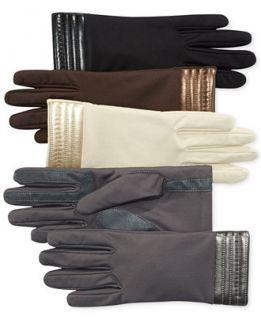 Isotoner Metallic Hem Stretch Spandex SmarTouch Tech Gloves   Handbags