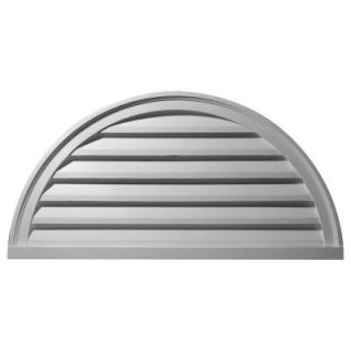 Ekena Millwork 2 in. x 48 in. x 24 in. Functional Half Round Gable Louver Vent GVHR48F