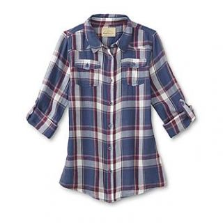 Roebuck & Co. Girls Flannel Shirt   Plaid