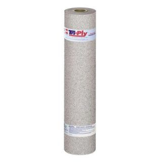 GAF Tri Ply 39 1/2 in. x 32 1/4 ft. (100 sq. ft.) Granule Bitumen Membrane Rolled Roofing in White 3688920