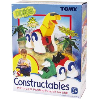 TOMY Constructables Motorized Building Dinos Playset Multi Colored