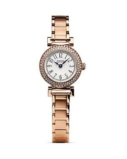 COACH Madison Rose Gold Mini Crystal Bracelet Watch, 24mm