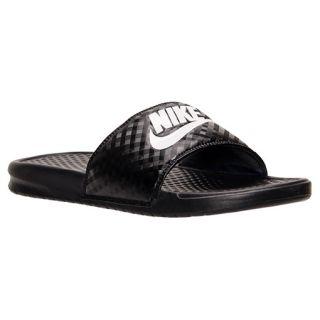 36547cb3951a Womens Nike Benassi JDI Swoosh Slide Sandals 343881 011 on PopScreen