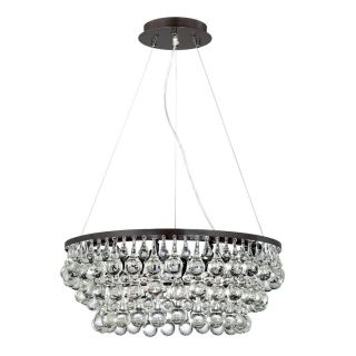 Eurofase Canto 24.5 in Oil Rubbed Bronze Crystal Clear Glass Pendant