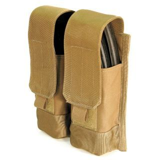 BLACKHAWK Estuche Doble para Cargador de Pistola,Coyote Tan,AK Mags   Cartucheras para Cinturón de Trabajo   11Z687 38CL84
