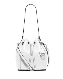 MICHAEL Michael Kors Cindy Large Dome Crossbody Bag, Optic White