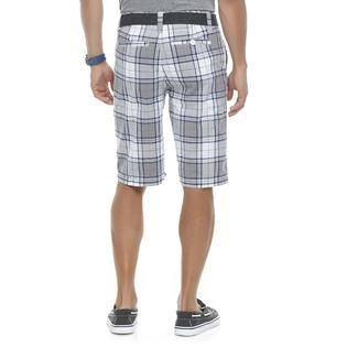 Roebuck & Co. Mens Poplin Shorts & Fabric Belt   Plaid   Clothing