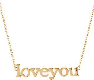 Jennifer Meyer Love You Pendant Necklace