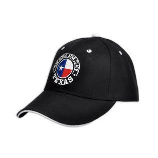 Selininy Texas State Flag Embroidered Black Baseaball Cap   Clothing