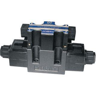 Northman Fluid Power Hydraulic Directional Control Valve – 26.4 GPM, 4500 PSI, 3-Position, Double Solenoid, Float Center Spool, 12 Volt DC Solenoids, Model# SWH-G03-C4-D12-10  Power Solenoid