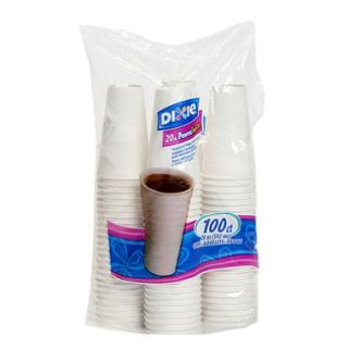 Dixie   PerfecTouch, Insulated Paper Hot Cup, 20 oz., White   100 Cups