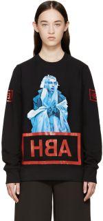 Hood by Air: Black Printed Shame Sweatshirt