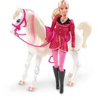 Barbie Sisters in a Pony Tale Train & Ride™ RC Horse   Toys & Games