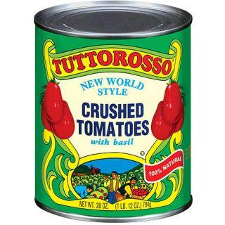 Tuttorosso Crushed New World Style Tomatoes With Basil, 28 oz