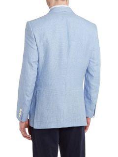 Chester Barrie Prince of wales check formal blazer Sky Blue