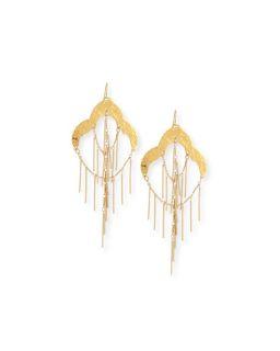 Devon Leigh 18K Fringe Chandelier Earrings