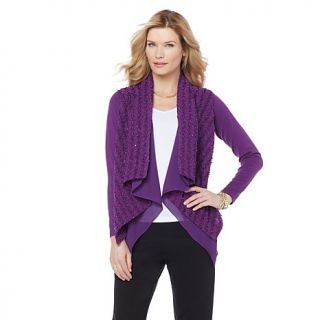 Jamie Gries Collection Sparkle Knit Open Cardigan   7897100