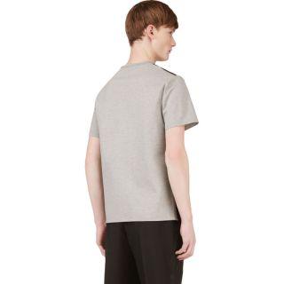 Richard Nicoll Heather Grey Leather Panel T Shirt