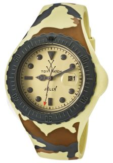 Jelly Thorn Beige Camouflage Pattern Silicone Beige Dial