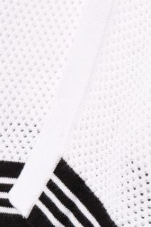 Nikki split black open knit sweater  Rag & bone