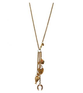 ANNINA VOGEL   9ct gold love luck signature charm necklace