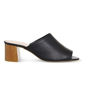 OFFICE   Mardi Gras leather block heel mules