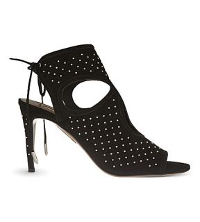 AQUAZZURA   Sexy Thing studded suede heeled sandals