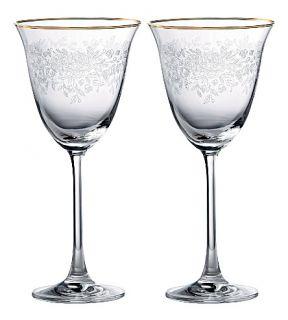 ROYAL ALBERT   Pair of crystal wine glasses