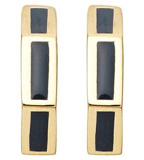 ASTLEY CLARKE   Sea Shell Fractal 18ct gold vermeil midnight earrings