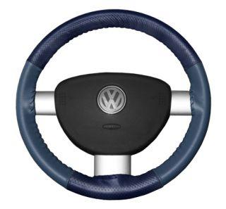 2015 Toyota Sienna Leather Steering Wheel Covers   Wheelskins Blue Perf/Sea Blue 15 1/4 X 4 1/2   Wheelskins EuroPerf Perforated Leather Steering Wheel Covers