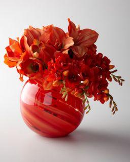 John Richard Collection Orange Sherbet Faux Floral Arrangement