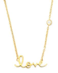 SHY by SE Love Pendant Bezel Diamond Necklace