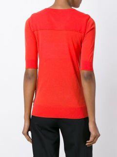 Jil Sander Navy Half Sleeve Sweater