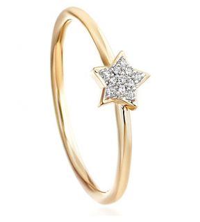 ASTLEY CLARKE   Super Stars yellow gold and diamond star ring