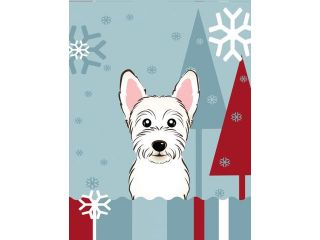 Winter Holiday Westie Flag Canvas House Size BB1722CHF