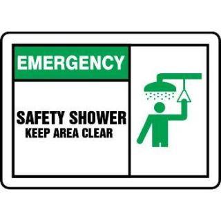 Emergency Safety Shower Graphic Alert Sign