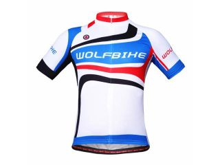 WOLFBIKE Unisex Cycling Shirt Outdoor Sport Wear Bike Bicycle Motorcycle Motorcross Jersey Quick Dry Breathable Clothing Top BC224 Blue