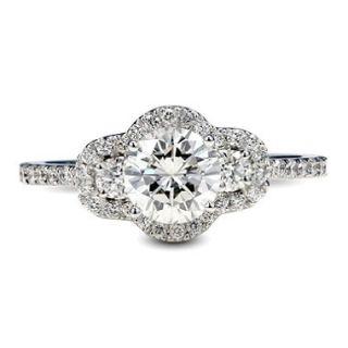 1.61 ct. t.w. Premier Diamond Collection Round 3 stone & Pave Diamond Ring in 14k White Gold (I, I1)