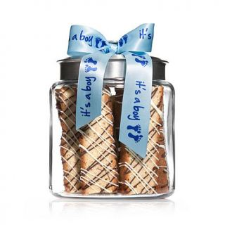 """Giorgio Cookie Co. Choice of Gourmet Biscotti with """"It's a Boy"""" Jar   8164037"""
