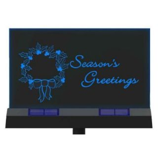 Moonrays 3 Light Outdoor Clear and Black Solar LED Season's Greetings Sign 96950