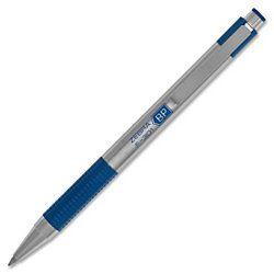Zebra Pen F 301 Ballpoint Pen Fine Point Type 0.7 mm Point Size Refillable Blue Ink Stainless Steel Barrel 1  Pack