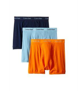Calvin Klein Underwear Cotton Classic Boxer Brief 3 Pack NU3019 Bridge Blue/Blue Shadow Logo/Vibrant Orange