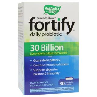 Natures Way Primadophilus Fortify Daily Probiotic 30 Billion, Vegetarian Capsules