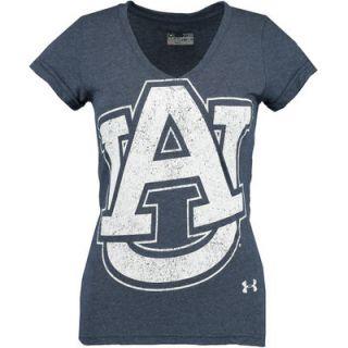 Auburn Tigers Under Armour Womens Tri Blend V Neck T Shirt   Navy