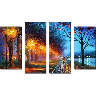 Picture Perfect International Alley by the Lake 1 by Leonid Afremov