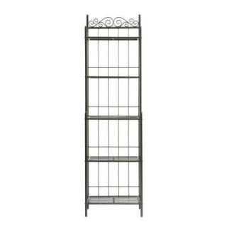Home Decorators Collection Celtic 19.25 in. W Baker's Rack in Gunmetal KA9801