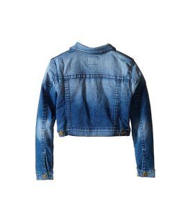True Religion Kids Patched Cropped Jacket (Little Kids/Big Kids) Glass Blue
