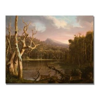 Trademark Fine Art 24 in. x 32 in. Lake with Dead Trees Canvas Art BL0977 C2432GG